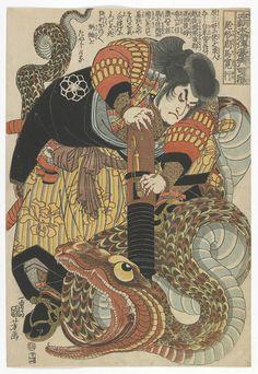 centuriespast:  Eight Hundred Heroes of a Japanese Water Margin, All Told: Ogata Shuma Hiroyuki Artist: Utagawa Kuniyoshi 歌川国芳 (1797-1861)Woodblock print; ink and color on paperJapanEdo periodFreer Gallery of Art and Arthur M. Sackler Gallery