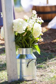 Country themed wedding decor | These were placed down the isle | Wedding Flowers | Photo by Photography For A Reason