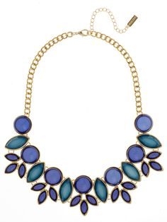These colors look pretty together. Bellflower Collar | BaubleBar Shades of Blue & Green