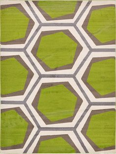 Green Frieze Area Rug