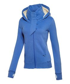 Look what I found on #zulily! Dazzling Blue Winterized Zip-Up Hoodie - Women by PUMA #zulilyfinds