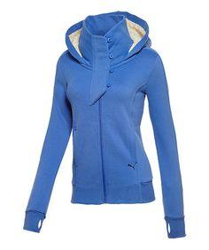 Look at this #zulilyfind! Dazzling Blue Winterized Zip-Up Hoodie - Women #zulilyfinds