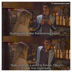 [2x01] Audrey the internet hero lol { #screamscene #scream #mtv #MTVscream…
