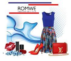 """ROMWE"" by marinadusanic ❤ liked on Polyvore featuring Christian Louboutin and Manic Panic"