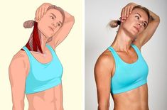 17 muscle stretching exercises that will make you feel perfect - Related muscles: Sternocleidomastoid muscle and upper trapezius (back muscle). Yoga Fitness, Wellness Fitness, Fitness Exercises, Muscle Stretches, Stretching Exercises, Sternocleidomastoid Muscle, Butterfly Pose, Leg Press, Back Muscles