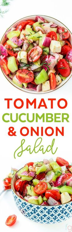 Tomato Cucumber and