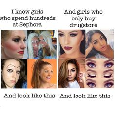 60 Beauty Memes That Will Make You LOL: Few things have the ability to brighten our day like a solid meme. Makeup Humor, Makeup Quotes, Funny Quotes, Funny Memes, Hilarious, Jokes, Fat Memes, Silly Memes, Dankest Memes