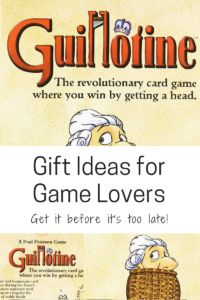 Guillotine - the revolutionary card game where you win by getting a head.  Family game night.