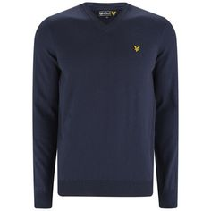 91f21e110b8 Lyle & Scott Vintage Men's Long Sleeve V-Neck Cotton Pullover - New.