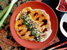 Šanghajské palačinky s hoi sin omáčkou JI DAN BING - Ochutnejte svět Quiche, Street Food, Taiwan, Breakfast, Fine Dining, Morning Coffee, Quiches