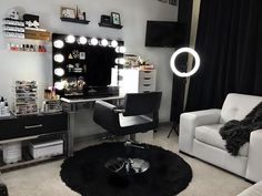 Bedroom Vanity Decoration Ideas Home SNS Vanity Makeup Rooms, Makeup Room Decor, Vanity Room, Makeup Vanities, Vanity Set, Makeup Studio Decor, Small Vanity, Vanity Bathroom, My New Room
