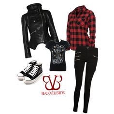 Black Veil Brides outfit by charleemoon featuring silver shoes. Not usually into flannel, but I actually really like it with this outfit! Band Outfits, Scene Outfits, Emo Outfits, Fashion Outfits, Fashion Boots, Casual Outfits, Fashion Trends, Black Veil Brides, Casual Cosplay