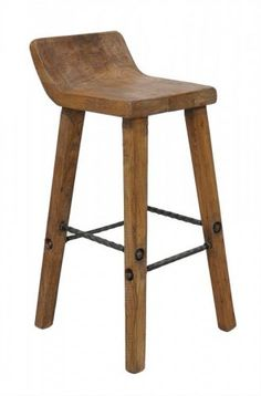 Arturo reclaimed boat wood bar counter stool.   Aardvark Home Decor