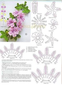 FREE DIAGRAM ~ A crochet bouquet of flowers! <3