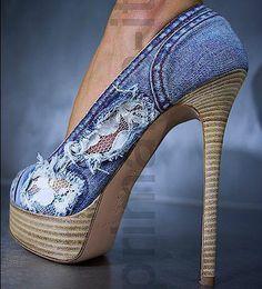 Denim & Lace #shoes :)