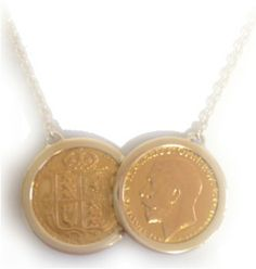 Rare Queen Victoria & King George Sovereign Necklace