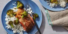 Air Fryer Teriyaki Salmon Fillets with Broccoli by Food Network Kitchen Air Fyer Recipes, Cooking Recipes, Healthy Recipes, Healthy Foods, Cooking Food, Simple Recipes, Sweet Recipes, Teriyaki Glaze, Teriyaki Salmon