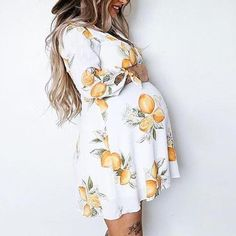 Maternity Tie Cuff Dress