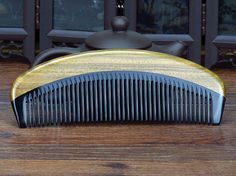 EMPTY PERSON Brand ox horn combs green sandalwood horn hair comb Christmas gift #emptyperson