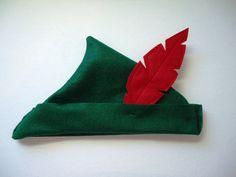 Pan Hat Handmade Forest Green Felt Pan Little by SeaminglySarah