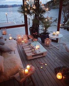 Decorate The Outdoors – Outdoor Patio Decor Beautiful Beach Houses, Beautiful Homes, Beautiful Beautiful, Beautiful Pictures, Outdoor Spaces, Outdoor Living, Outdoor Decor, Outdoor Balcony, Balcony Lighting