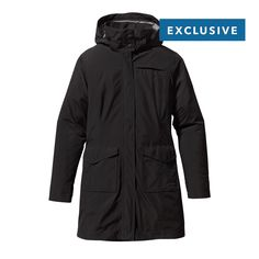 The Patagonia Women's Stormdreams Raincoat is a tough waterproof rain jacket built for wet-weather commuting with a 2-layer Gore-Tex® Performance Shell.
