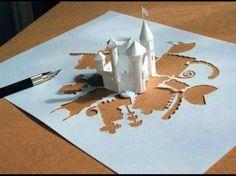 Ein Ein-Papier-DIY-Schloss, Wahnsinn!