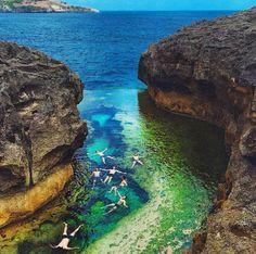 The natural swimming pool at Nusa Penida