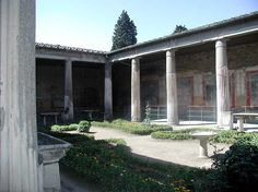 House of the Two Brothers courtyard/garden in Pompeii The Places Youll Go, Great Places, Rome Architecture, Ruined City, Pompeii And Herculaneum, Best Of Italy, Italy Tours, Ancient Rome, Roman Empire