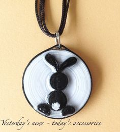 Paper pendant by Yesterday's news - today's accessories