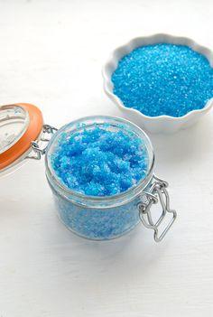 Sparkling Flower-scented Coconut Oil Sugar Scrub- Blue Lilac- BoulderLocavore.com