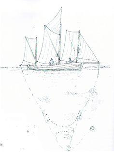 De tresmakkede joller var en videreudvikling af tosmakkerne. Da ålefiskeriet med drivkvaser vandt indpas i Danmark, lærte danske fiskere sig at drive med ålevod. Der blev bygget danske drivkvaser efter tysk forbillede, men undertiden riggede strandhusmænd og småfiskere deres tosmakker op med større sejlføring bestående af klyver på bom, topsejl og mesan skødet til drivbom, og man havde således trækkraft til at slæbe et mindre ålevod. De store joller kunne have dam. Kilde: Ib Ivar Dahl