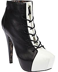 Black and White Bootie/ Dorothy Johnson