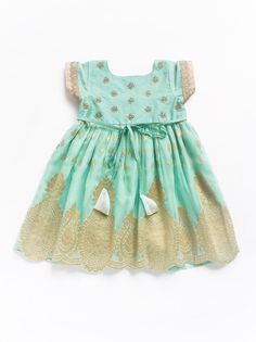 Gorgeous ocean blue and decadent vintage gold makes perfect choice for your lil one. Pay Cash on Delivery Kids Wear Online, Marina Dress, Kids Wardrobe, Designer Kids Clothes, Boy Outfits, Party Dress, India, Summer Dresses, Stuff To Buy
