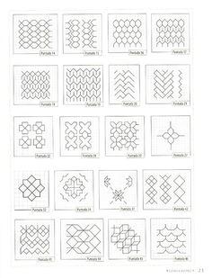 Blackwork Chessboard 3/4