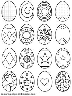 Symbol Abstract Easter Eggs Multiple Designs Per Sheet