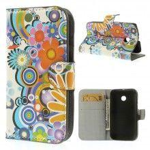 Buchdesign Tasche für Motorola Moto E Nature Design Blumen 4 7,99 €
