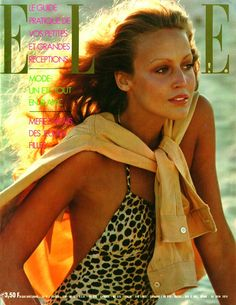 Elle France June 24th, 1974: Jerry Hall by Hans Feurer