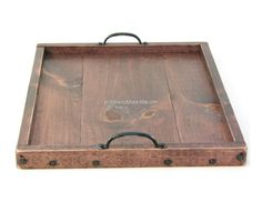 Ottoman Tray Wooden Coffee Table Tray Dry Use by BridgewoodPlace