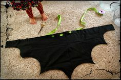 Pickled Okra by Charlie: No Sew Bat Wings, a 10 minute costume tutorial