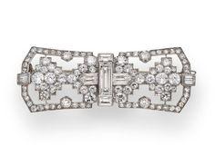 An art deco diamond brooch, Cartier, circa 1930