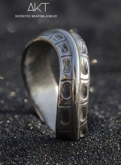 BAGUE TWISTEE (twisted ring) : Destroyed weapons jewelry. Unisexe ring, stainless steel from destroyed weapons metal. Available from November 29th at aktjewels webstore.
