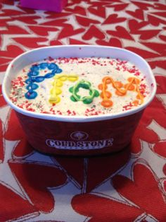 how I was asked to prom! @Cold Stone Creamery