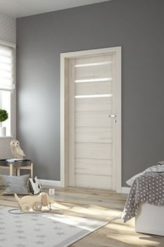Color Paredes Salon, Wood Doors, Tall Cabinet Storage, Room Decor, Bedroom, House, Furniture, Diy Creative Ideas, Environment