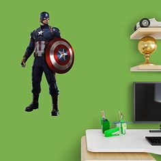 Marvel Captain America Civil War Fathead Jr >>> You can get additional details at the image link.Note:It is affiliate link to Amazon.