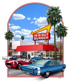 In-N-Out Burger T-shirt illustration