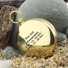Personalized compass coordinate gift memorial gifts