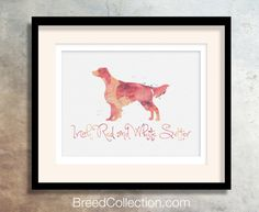 Irish Red and White Setter Dog from the Watercolor Breed Collection - set of 5 Files