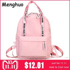 Menghuo Large Capacity Backpack Women Preppy School Bags For Teenagers  Female Nylon Travel Bags Girls Bowknot Backpack Mochilas 5f005cb37bfef