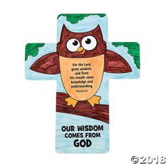 """Color Your Own """"Wisdom Comes From God"""" Crosses - Discontinued"""